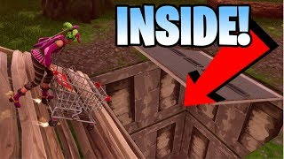 *INSIDE* Hidden Bunker Glitch with Shopping Cart (Fortnite Battle Royale)