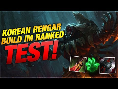 Der Ranked Test: Korean Rengar Build [League of Legends] thumbnail