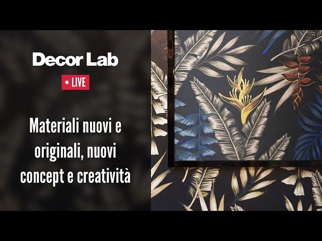 Materiali nuovi e originali, nuovi concept e creatività