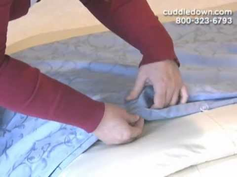 How To Put A Duvet Cover On Your Comforter