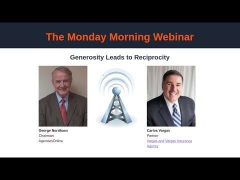 Monday Morning: Generosity Leads to Reciprocity