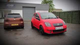 Citroen C2 full wrap in 3M Matte Hot Rod Red with gloss black accents at 2K Customs(, 2015-06-04T21:28:34.000Z)