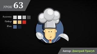 Уроки Adobe Illustrator. Урок №63: Как нарисовать персонаж повара в Adobe Illustrator