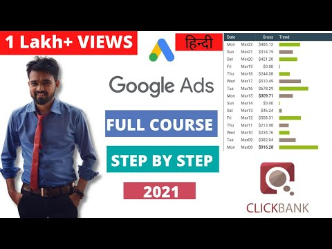 Clickbank Google Ads Course | Step By Step for Beginner | Affiliate Marketing 2021