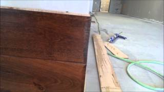 How To Install Hardwood To A Wall Part 1 By The Floor Barn Flooring Store In Arlington Tx