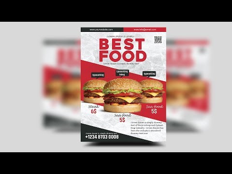 Burgers Offer Food Menu Flyer | Photoshop Tutorials