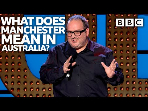 The bizarre relationship between Australia and Manchester | Live At The Apollo - BBC