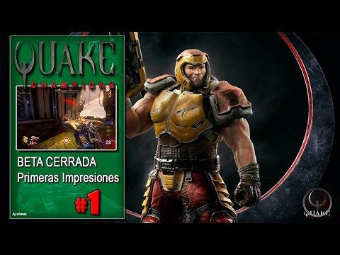 Quake Champions BETA CERRADA 2K gameplay español