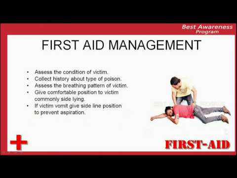 First Aid care in case of poisoning, management of poisoning, how to save life of victim with poison