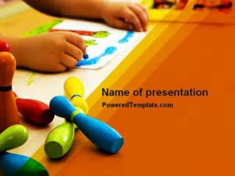 Preschool education powerpoint template by poweredtemplate youtube toneelgroepblik Image collections