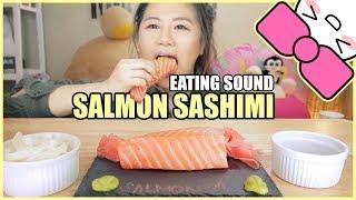 SALMON SASHIMI  EATING SOUND  ASMR