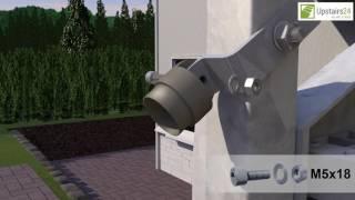 Vidéo: Escalier extérieur Innotec + rampe d'un côté