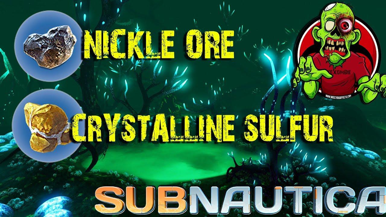 nickle ore crystalline sulfur