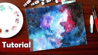 Cómo pintar una GALAXIA con acuarelas - Galaxy in Watercolor