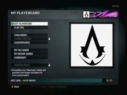 Call of Duty: Black Ops - Assassin's Creed Custom Emblem Tutorial