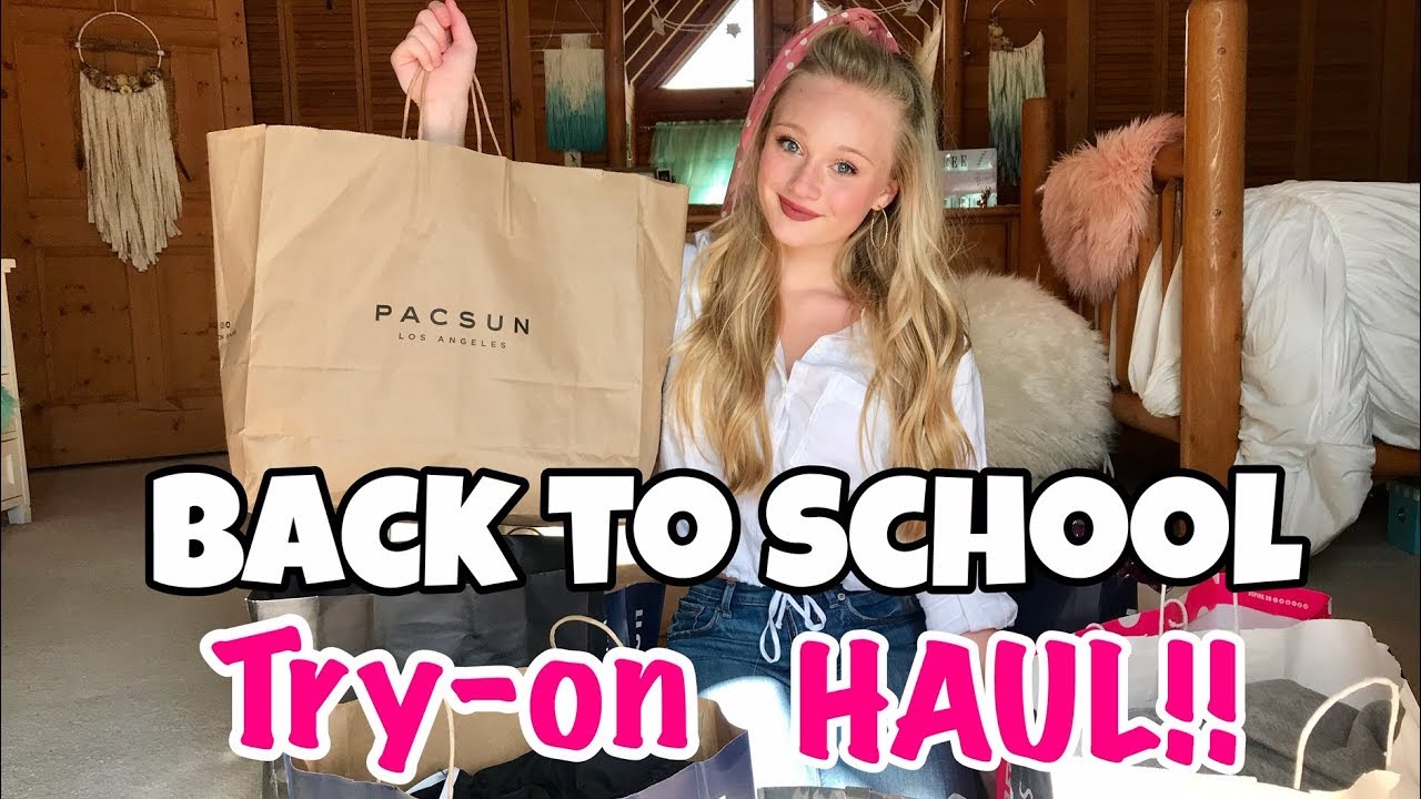 Back To School clothing try on haul 2019   whats in my closet fall fashion with Ella 1