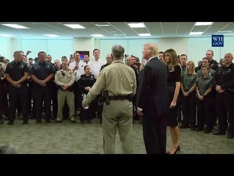 Pres. Trump praises 'Bravery' of first Responder and Sheriff Joseph Lombardo