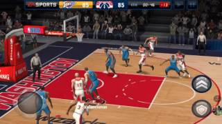 Playing NBA LIVE MOBILE!!!!!!!!!!!!!!!! beat Warriors (new)