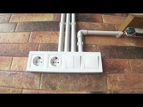 Пример укладки внешней проводки  в водопроводные трубы | Ремонт квартир в Одессе / Стиль Loft