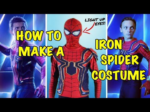 make your own diy iron spiderman costume avengers infinity war
