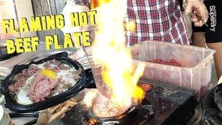 Flaming Beef Hotplate   Vietnam Street Food   Bò né   牛肉火锅   piring daging sapi   daging lembu