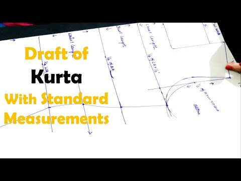 SEWING - BASICS Video 1 - Draft Of Kurta With Standard Measurements