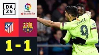 Ousmane Dembele rettet Punkt in letzter Minute: Atletico Madrid - FC Barcelona 1:1 | LaLiga | DAZN