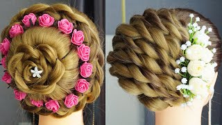 Top 7 Amazing Hairstyle Tutorial Compilations Wedding Function Bun Hairstyles Hair step by step
