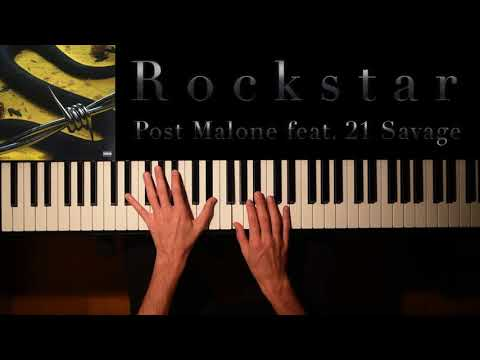 Rockstar - Post Malone feat. 21 Savage (Piano Cover + Download Spartito)
