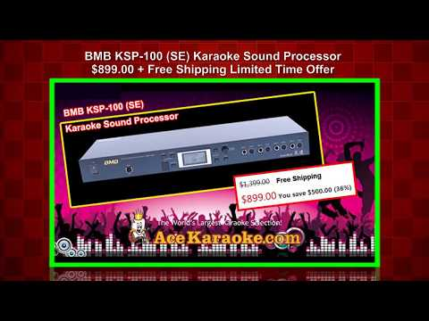 BMB KSP-100 (SE) Karaoke Sound Processor Advanced PC Software