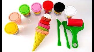 Oyun hamuruyla dondurma yapımı-oyun hamuru videolarıplay doh ice cream-play doh videos