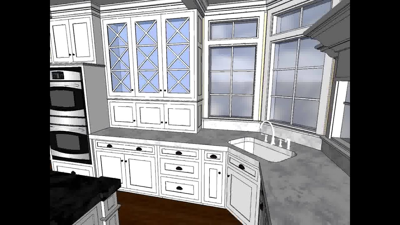SketchUp Animated Kitchen Rending - Covenant Kitchens & Baths Inc ...