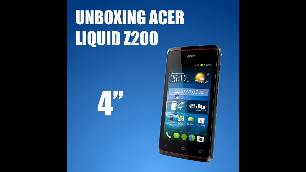 Unboxing Acer Liquid Z200