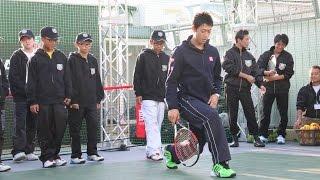 錦織圭「適当にまねしてください」小中学生にレクチャー 「KEI for KIDS by TAG Heuer」(2) #Kei Nishikori #charity event