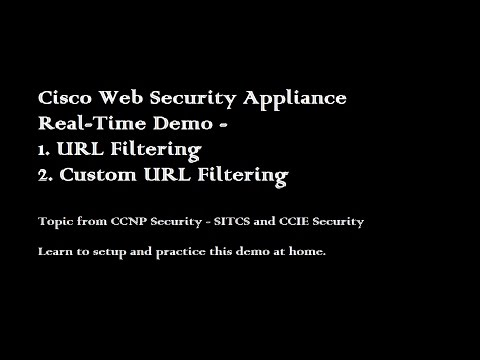 Cisco Ironport Web Security Appliance URL Filtering