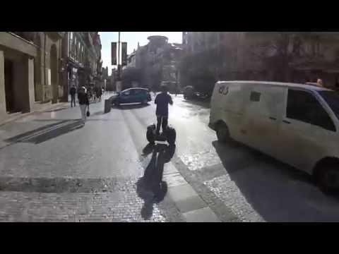 Roaming through Prague, Czech Republic in a Segway.