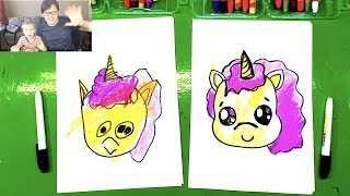 How to draw a Unicorn Baby Dad draws: http://www.youtube.com/channe...