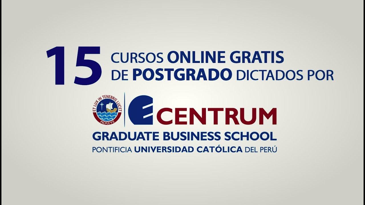 Cursos Online Gratis De Posgrado De La Pucp Youtube