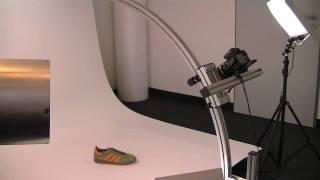 3D Produktfotografie - Drehteller mit Bogenarm