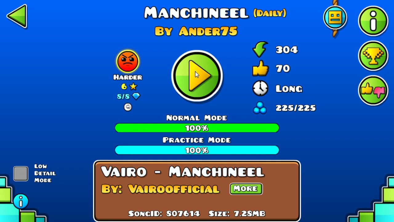 Download [GD] MANCHINEEL BY ANDER75 (DAILY LEVEL) (ALL COINS)   GEOMETRY DASH 2.13