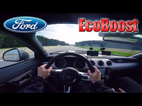 2017 Ford Mustang EcoBoost (0-240km/h) POV- Acceleration, Top speed TEST✔