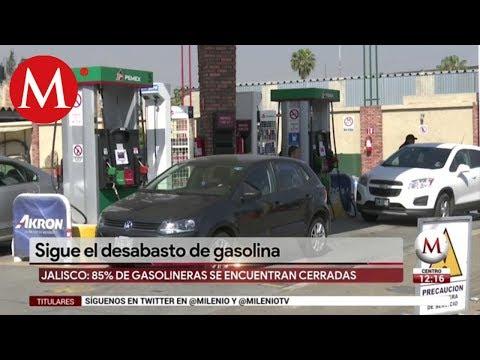 Sigue el desabasto de gasolina en Jalisco