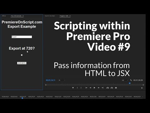 Passing Information From HTML To JSX In Your Premiere Panel