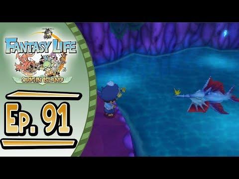 Fantasy Life - Origin Island :: # 91 :: The Poseidon Swordfish - Angler Special Request!