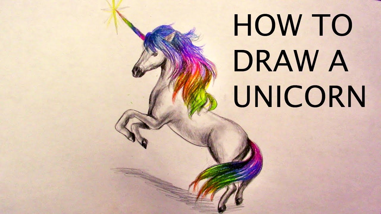 How to draw a realistic unicorn easy realtime