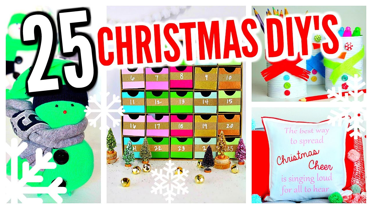 sc 1 st  YouTube & 25 DIY Christmas Decorations! Winter Room Decor Ideas! - YouTube