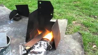 Benzínový hořák - videopokus 2