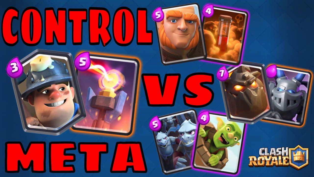Clash Royale Miner Control Meta Deck Counters Youtube