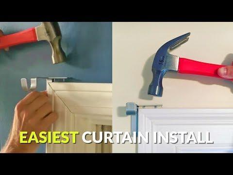 Genius Curtain Rod Holders Install In Seconds