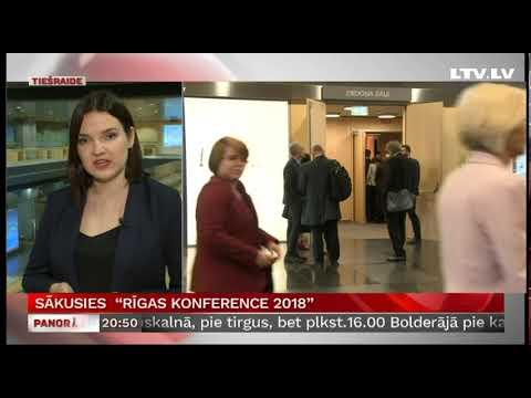 """Sākusies  """"Rīgas konference 2018"""""""